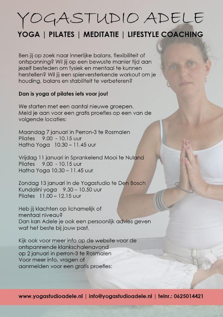 Ben jij op zoek naar innerlijke balans, flexibiliteit of ontspanning? Dan is yoga of pilates iets voor jou.